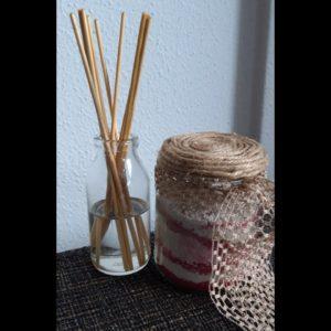 DIY pakket Geurstokjes en badzout