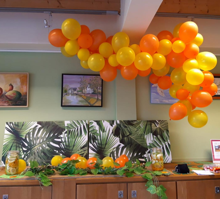 wanddecoratie met ballonnenboog
