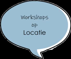 Workshops op locatie tekstballon