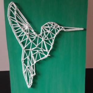 DIY pakket string art kolibrie