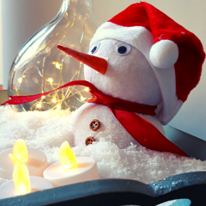 DIY pakket sneeuwpop. Met dit DIY pakket kan je er twee maken.