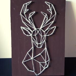 String art Hertenkop