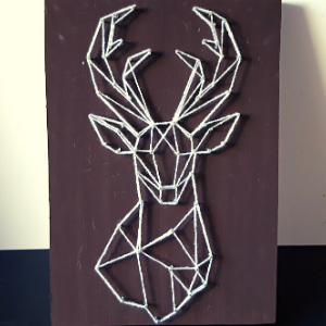String art Hertenkop