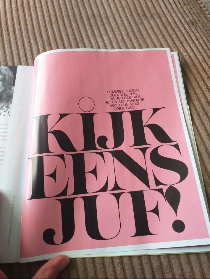 Artikel over trakteren in magazine VRUCHT