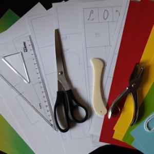 Materialen in het DIY pakket Exploding giftbox